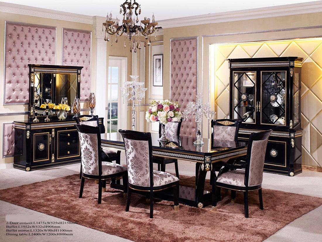 Black Dining Table Scarlett Classic Dining