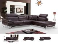 Modern Brown Leather Sectional Sofa EF194 | Leather Sectionals