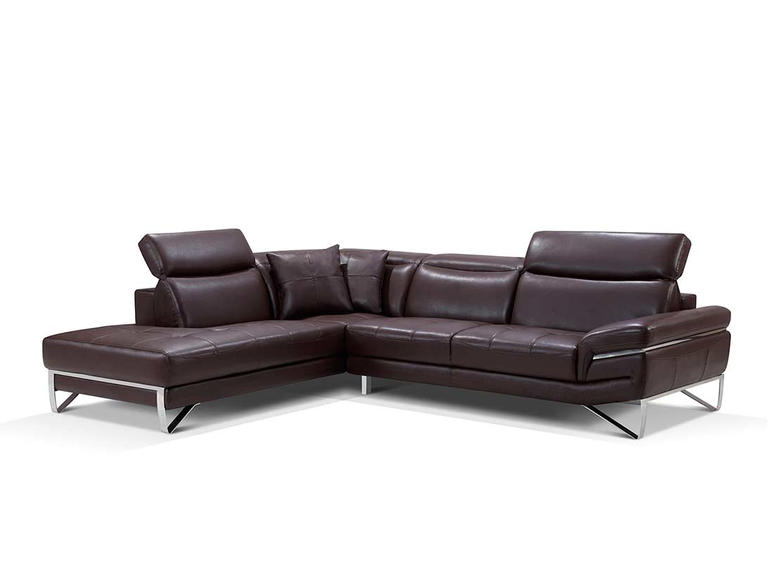 modern brown leather sofa ikea with chaise sectional ef194 sectionals