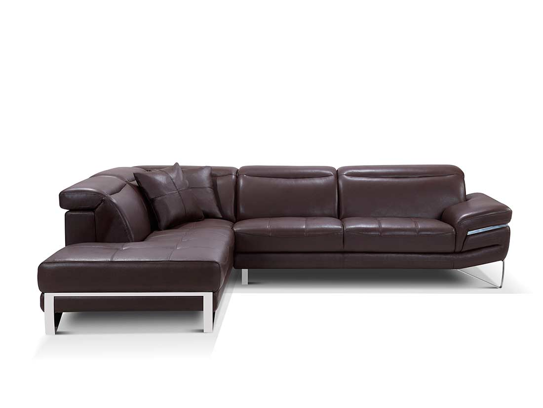 modern brown leather sofa large sale sectional ef194 sectionals
