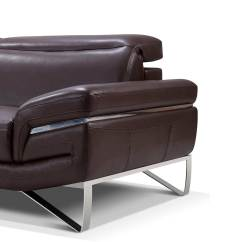 Modern Brown Leather Sofa Simmons Sleeper Sofas Sectional Ef194 Sectionals