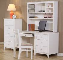 White Wood Computer Desk CO 237   Computer Desks
