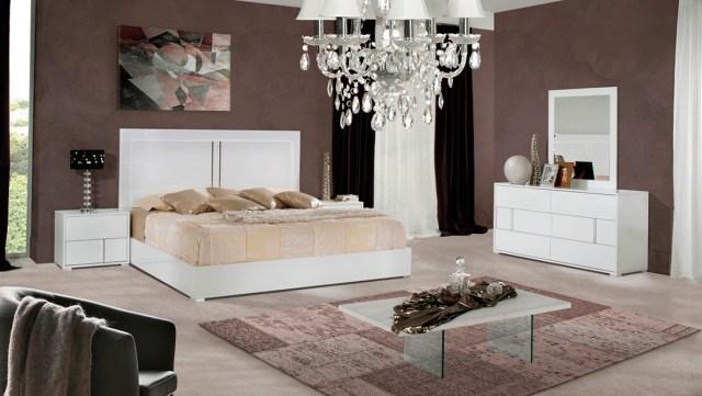 Alle White Gloss Modern Bedroom set | Modern Bedroom Furniture