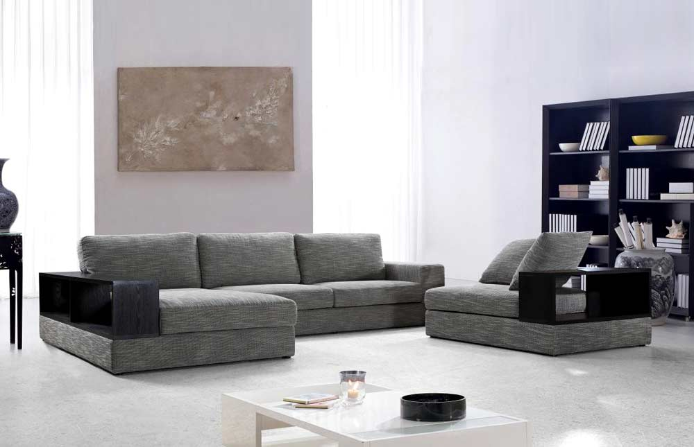 stanley sofa pet friendly throws grey fabric sectional with wood shelves vg antonio ...