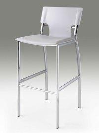 White leather bar stool CR121 | Bar Stools