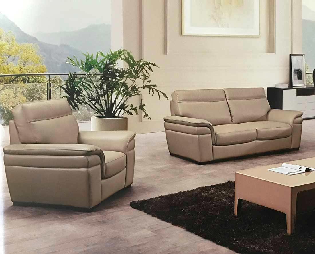 Italian Tan Leather Sofa Set AEK20TN  Leather Sofas