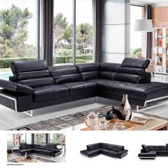 Modern Black Leather Sofa Cloth Cover Designs Sectional Ef347 Sectionals
