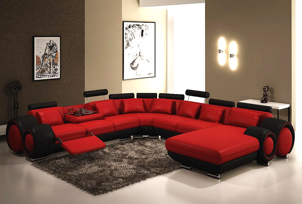 living room black leather sectional rustic beach ideas modern red and bonded astra