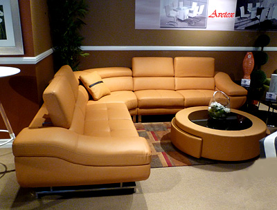 real leather sofa sets how to clean fabric without water orange modern sectional b68 | sectionals