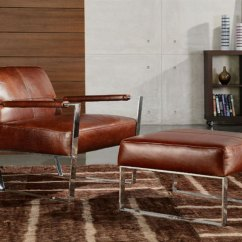 Lounge Chair Leather Ergonomic Delhi Cognac By Moroni Accent Seating