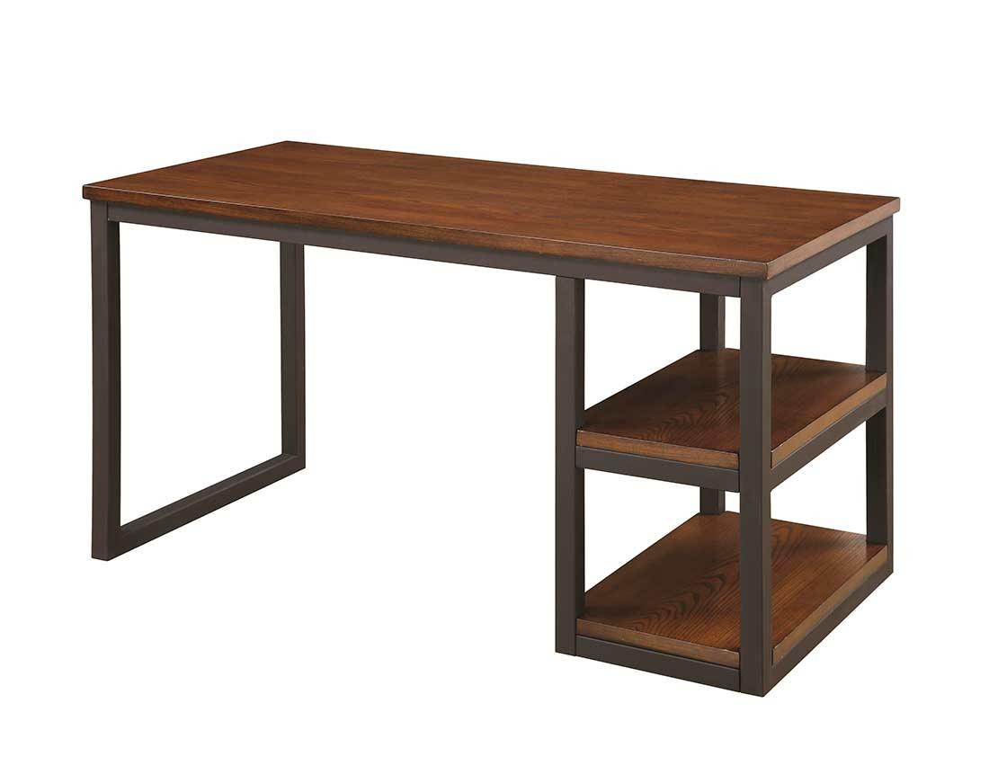 Brown Desk with Black Metal CO 242  Desks
