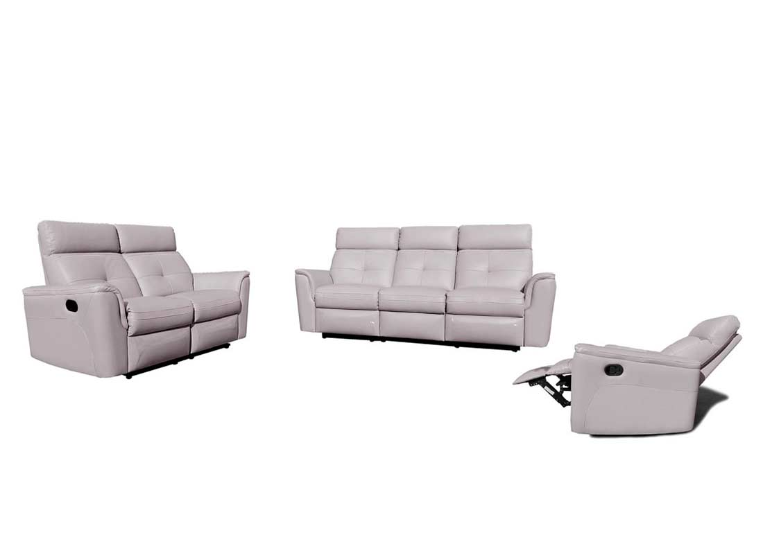 gray leather sofa recliner for teenage room reclining grey ef501 sofas