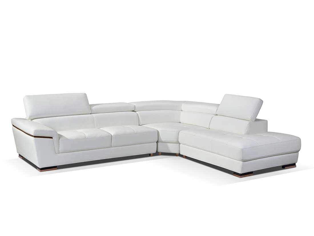 white leather sectional sofa with ottoman slide under computer desk modern ef383 sectionals