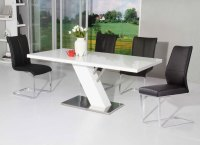 Dining Table: Modern White Lacquer Dining Table
