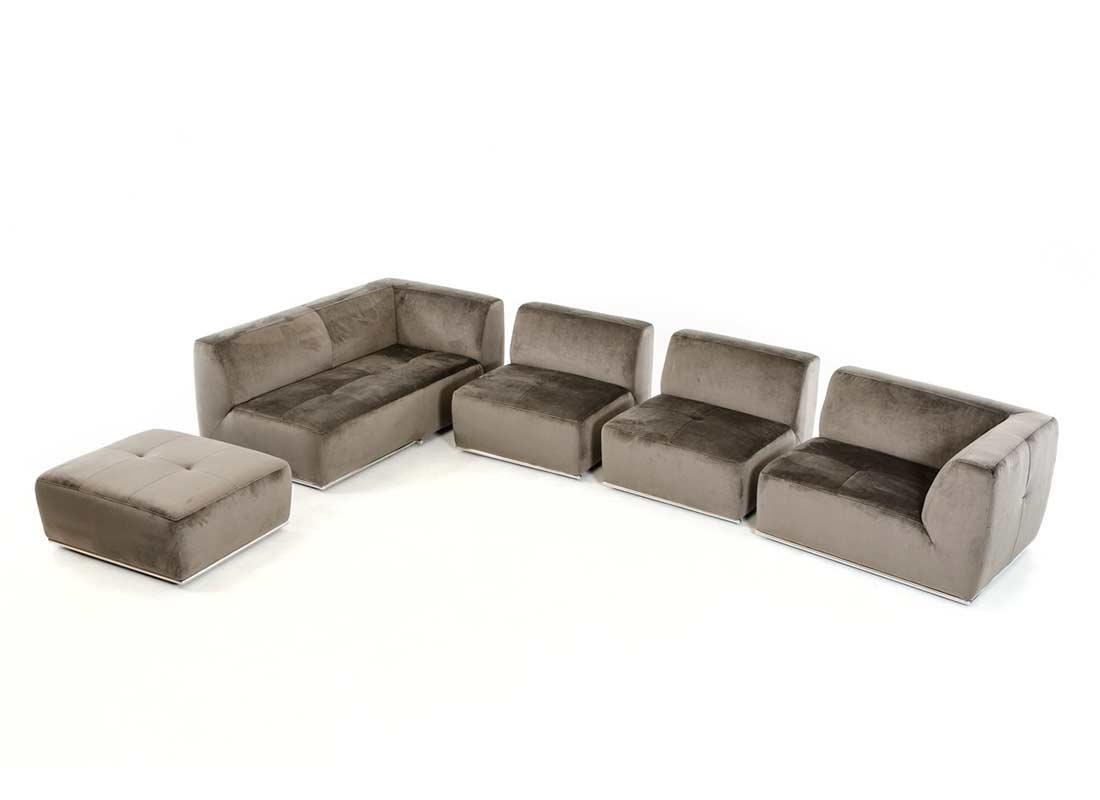 contemporary sofa sectional bettsofa pfister grey fabric vg389