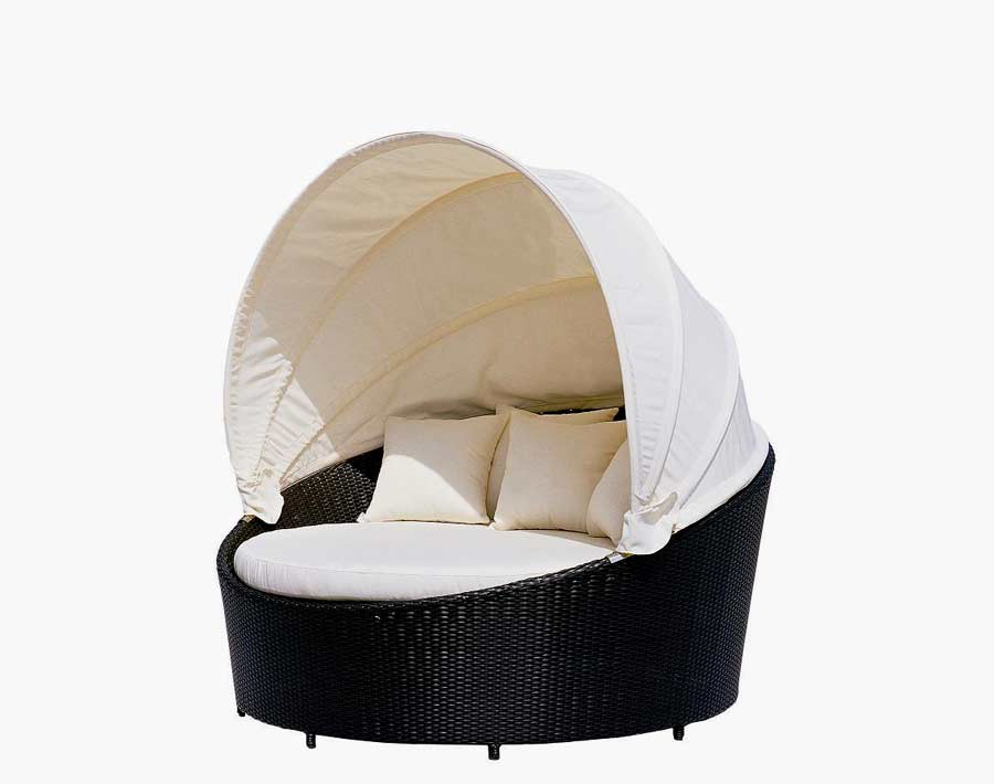 VG10 Round Outdoor Day Bed  Outdoor patio beds