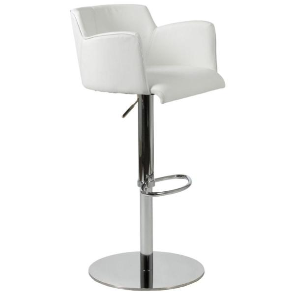 White Counter Bar Stools Chrome