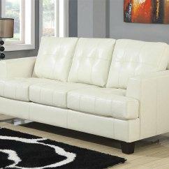 Leather Sleeper Sofa And Loveseat Playpen Bobs Furniture Cream Set West   Sofas