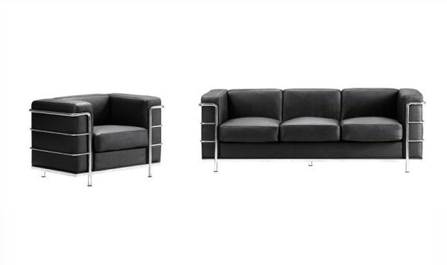 steel frame sofa cinema office with metal chairs