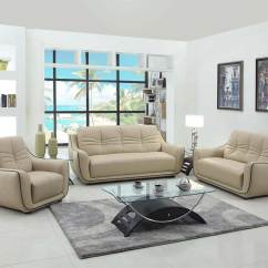 Modern Sofa Chair High Wooden Beige Leather Gu 88 Sofas