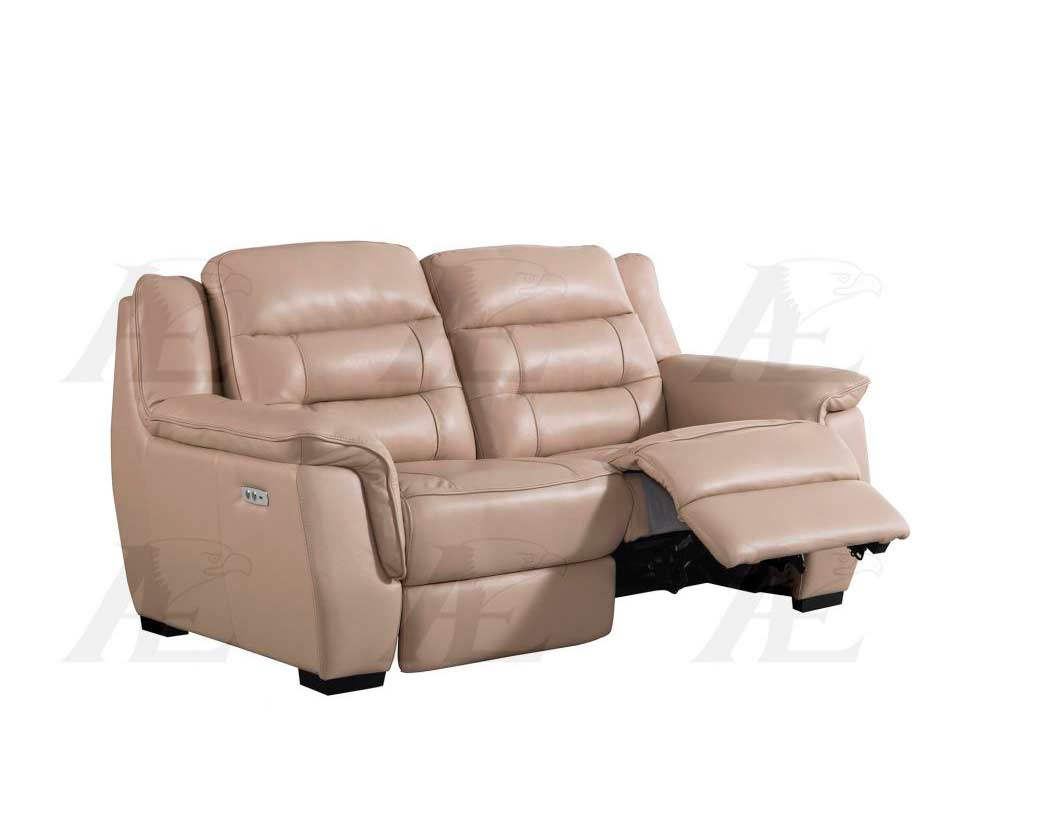 Tan Electric Recliner sofa AEK 089  Leather Sofas