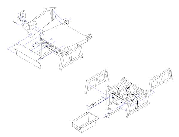 King Air Shroud Kit for LH Lateral Tracking Seat Base 32