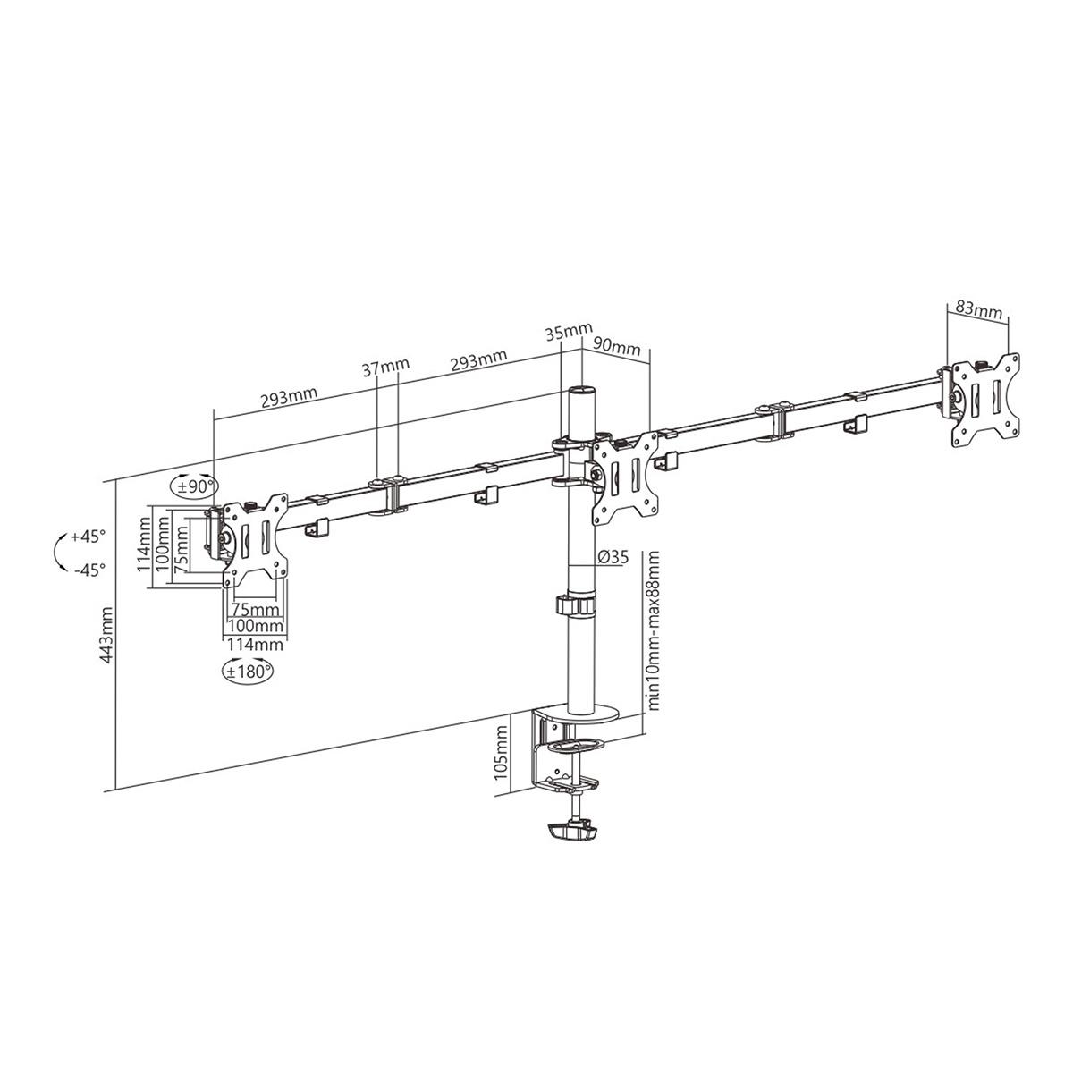 Boost Industries Universal DM-EX30 Triple Arm Double