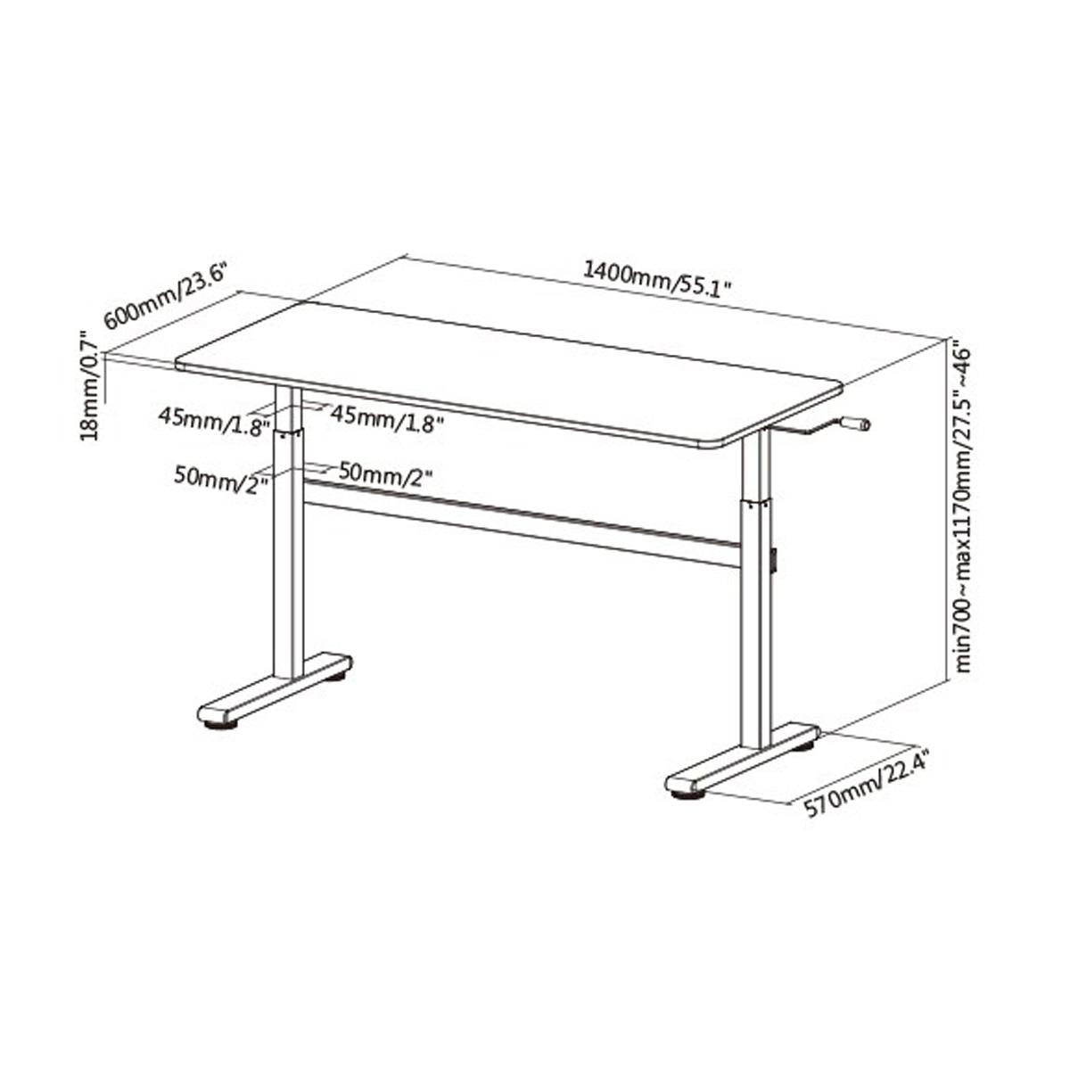 Boost Industries FS-OD55C Floor Standing Manual Crank