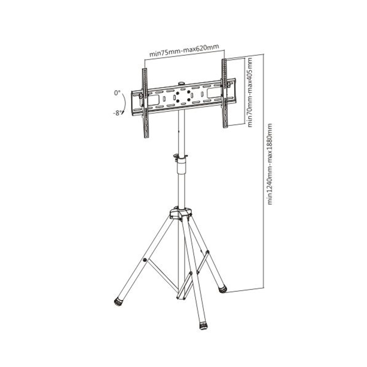 Boost Industries Avt T Tilting Tv Mount With Portable