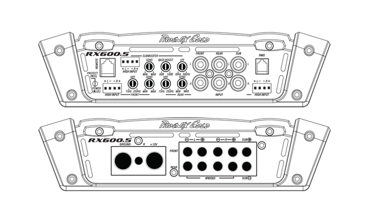 Phoenix Gold RX600.5 600W 5-Channel Amplifier