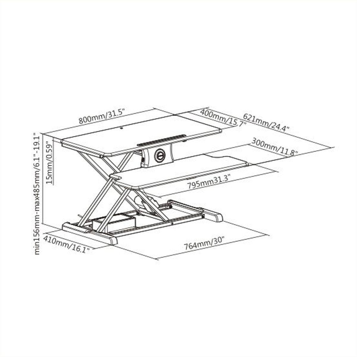 Boost Industries STS-DR32M Motorized Desk Riser with Bonus