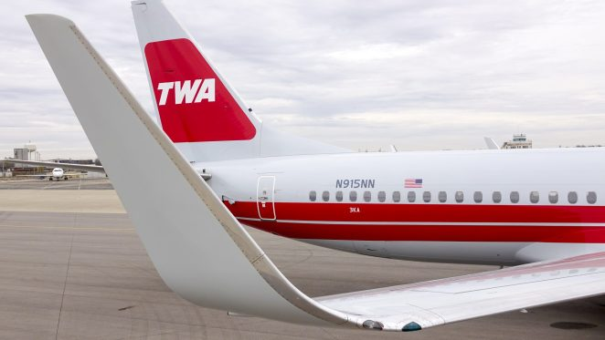 American's new TWA Heritage Livery (Courtesy American Airlines)