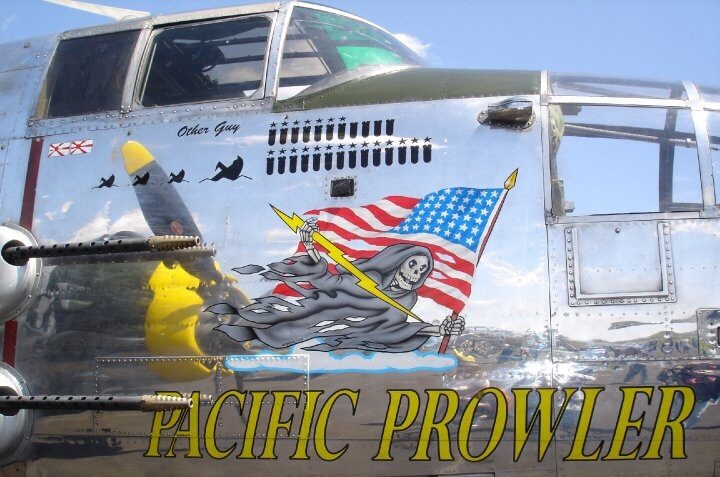Pacific Prowler is the restored name of a privately owned B-25. You can read more about it here: http://www.ecommerce-group.com/pacificprowler/History.html