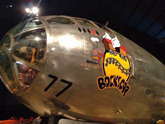 "The B-29 ""Bockscar"" was named after the aircraft commander, Captain Fredrick C. Bock. The plane was often referred to as ""Bock's Car"" by her crew."