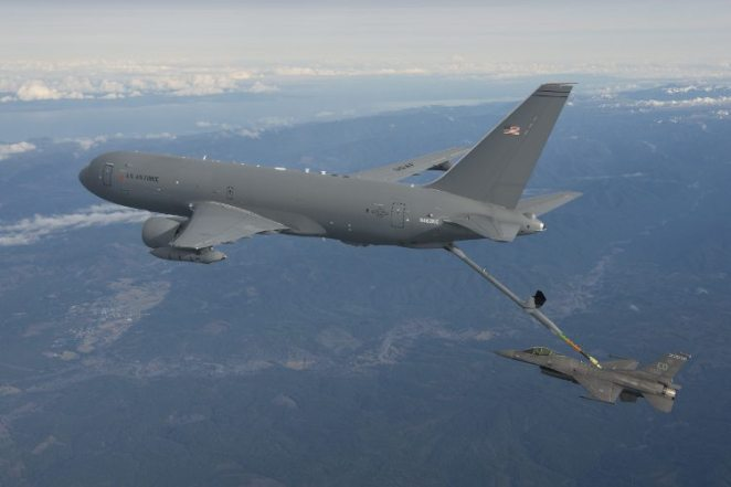 Boeing Flight Test & Evaluation - Boeing Field - KC-46, VH004, EMD2, Initial Contacts with F-16, Boeing KC-46 Pegasus Tanker Refueling F-16, Edwards AFB 412th TW,