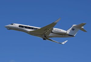 Gulfstream's G650 is the company's largest and fastest business jet with a top speed of Mach 0.925. Credit: Wikipedia.