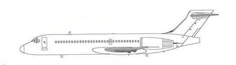 Sketch of the Boeing 717-100x (Source: Boeing, Uploaded to MD-80.net)