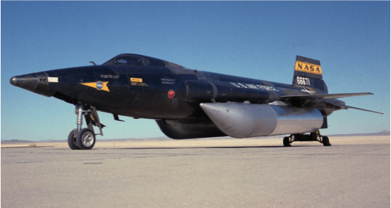 X-15 with external tanks.