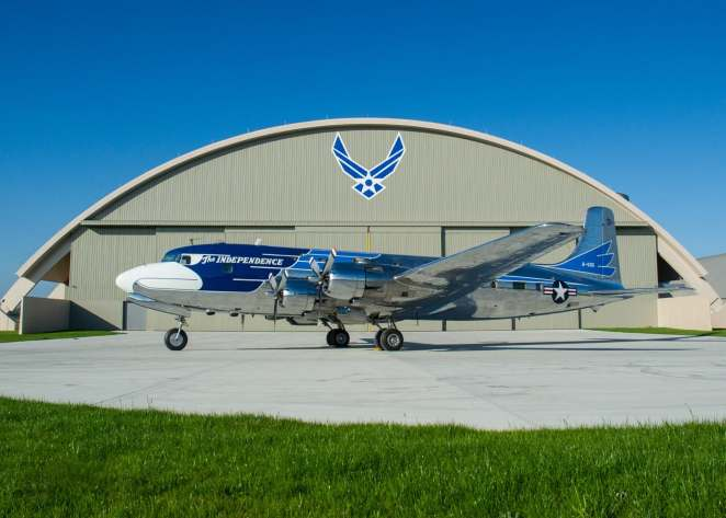 """President Truman's VC-118 (DC-6) named """"Independence) (NMUSAF Photo)"""
