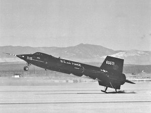 X-15 Number 1 Landing on a Dry Lakebed Runway