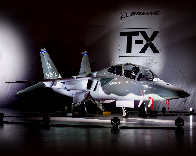 "Boeing's ""clean sheet"" design T-X aircraft (Boeing Photo)"