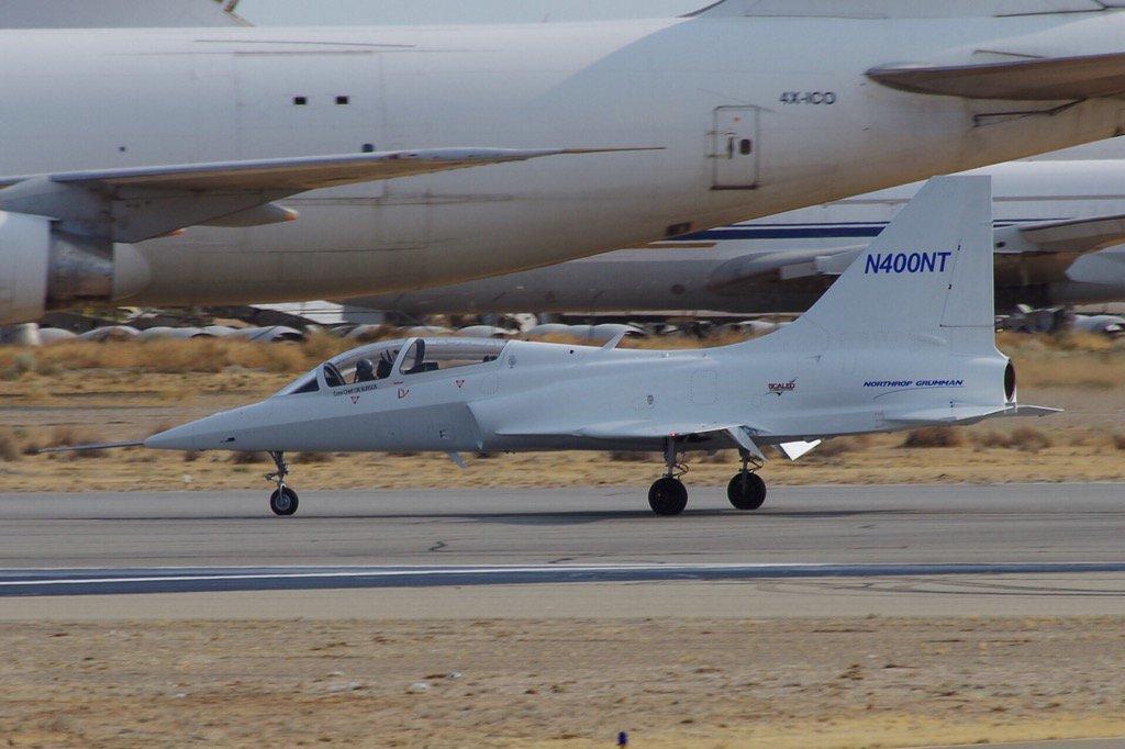 Northrop Grumman's T-X prototype seen undergoing taxi test in Mojave, California. (Northrop Grumman)