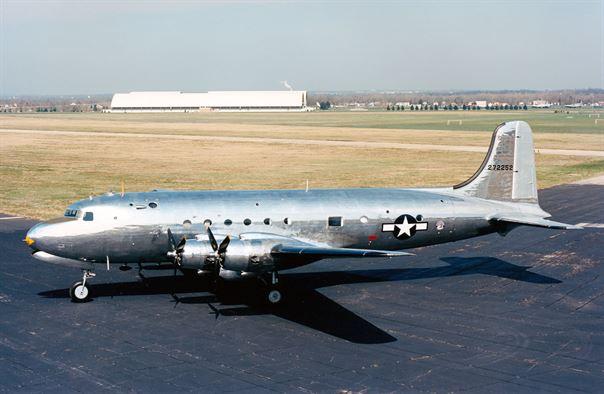 Douglas VC-54C built specifically for President F. D. Roosevelt. (2016, USAF Photo)