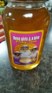 Three Girls and a hive honey