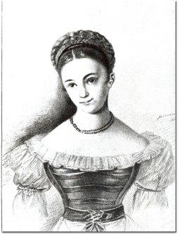 Karolina Jaenisch Pavlova (1807-1893), nach Biermann (W. Mickiewicz: Żywot Adama Mickiewicza, Poznań 1929), Quelle: HiN