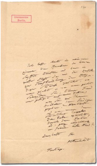 Faksimile eines Briefs von Humboldt an Ehrenberg (Quelle: HiN online)