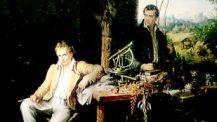 Alexander von Humboldt und Aimé Bonpland in der Urwaldhütte Eduard Ender, um 1850