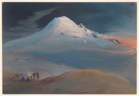 J. M. Rugendas, Nächtliche Rast auf dem Weg zum Gipfel des Popocatépetl (Quelle: Kupferstichkabinett, SMB, Foto Volker-H. Schneider)