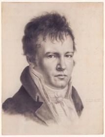 Alexander von Humboldt zeichnete dieses berühmte Selbstportrait 1814 in Paris