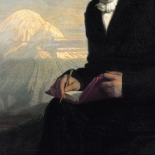 "Detail of Julius Schrader's portrait ""Alexander von Humboldt"", 1859 (Source: Wikimedia Commons)"